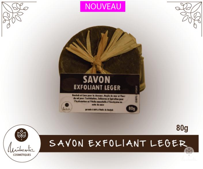 SAVON EXFOLIANT LEGER 80g| Mihanta Cosmetiques
