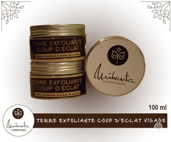 TERRE EXFOLIANTE COUP D'ECLAT VISAGE 100 ML | Mihanta Cosmetiques